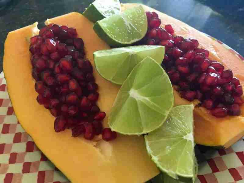 Pomegranite nd Papaya